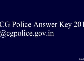 CG Police Answer Key 2018