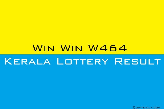 Win Win W464 Kerala Lottery Result Today 11.6.2018 LIVE
