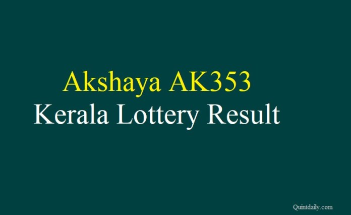 Akshaya AK353 Kerala Lottery Result #money #finance #keralalotteryresult quintdaily.com