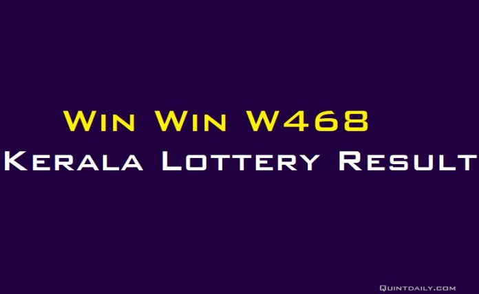 Win Win W468 Kerala Lottery Result #lotteryresult #finance #money quintdaily.com