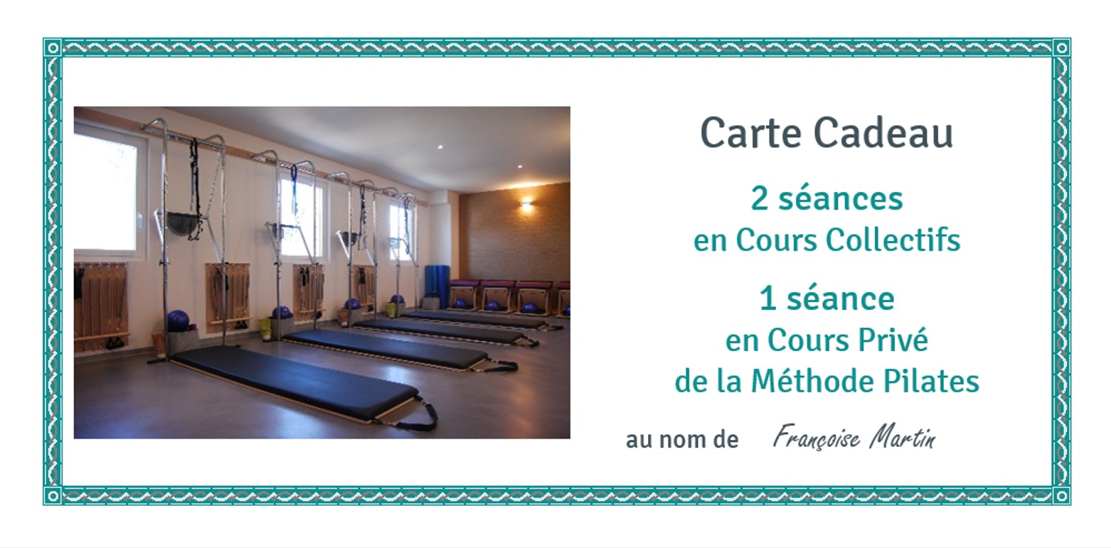 Carte Cadeau Cours Collectifs et Cours Privé
