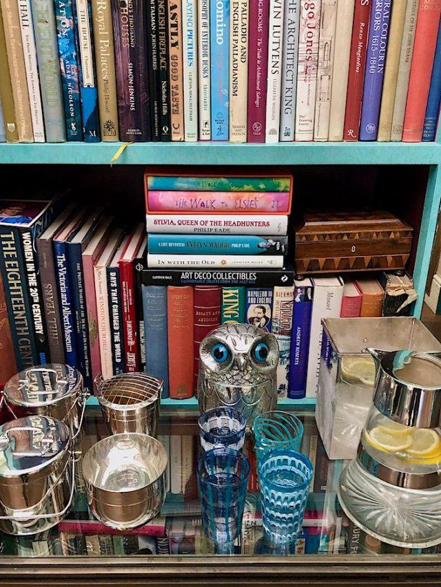 Nina Campbell bar in her London home via Quintessence
