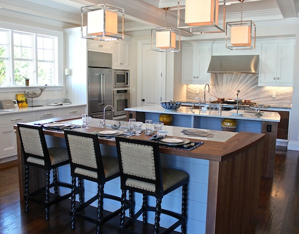 narrow kitchen cabinet countertop material 2012 traditional home hampton designer showhouse