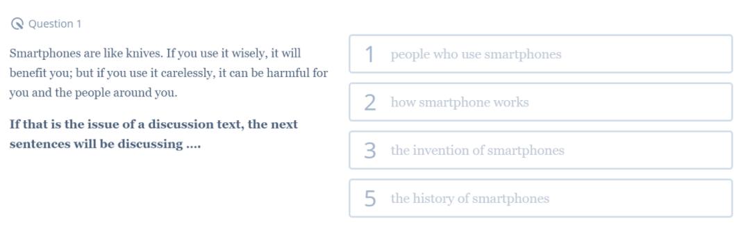 Contoh Soal Discussion Text Nomor 1