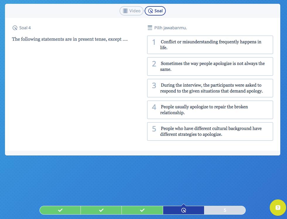 Mau Bahasa Inggris SBMPTN Lancar Yuk, Latihan Soal Simple Present Tense Dulu!