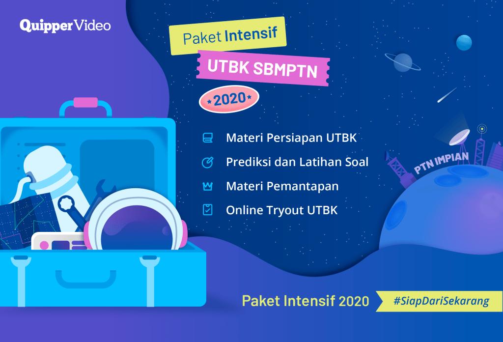 Paket Intensif UTBK SBMPTN 2020 Telah Tersedia!