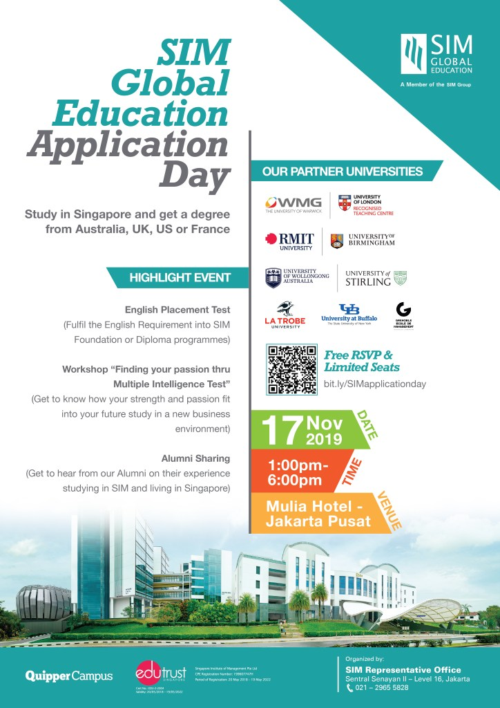Poster Singapore Institute Management Application Day 2019!