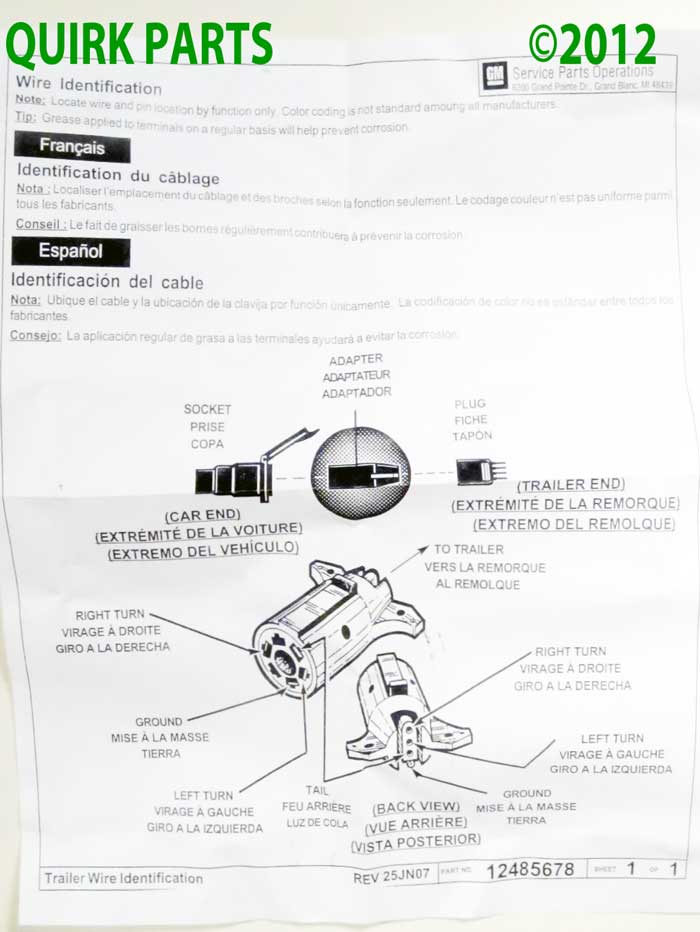 gmc acadia trailer wiring adapter