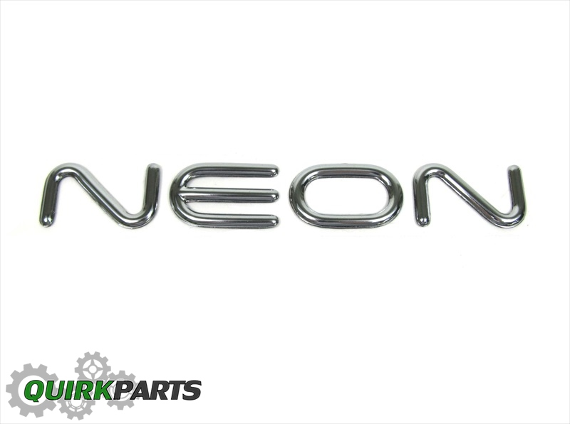 2000-2005 Dodge & Plymouth Neon Chrome Emblem Nameplate