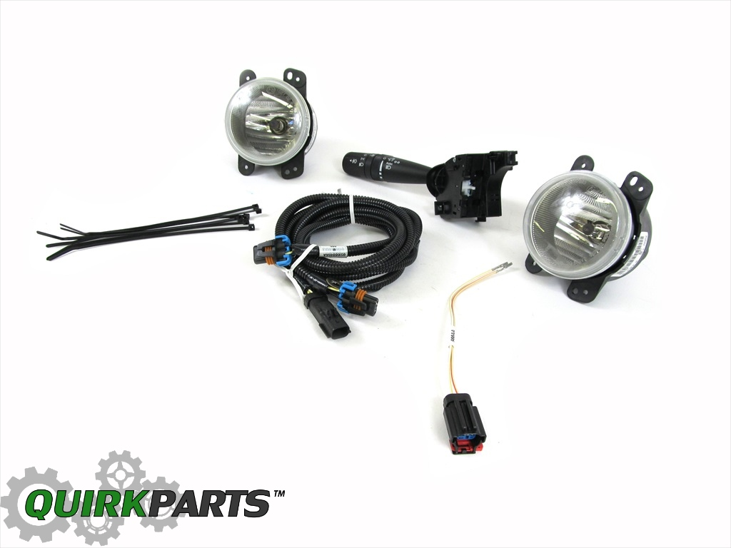 2007 2008 2009 Jeep Wrangler Fog Lamp Lights Kit 82211870
