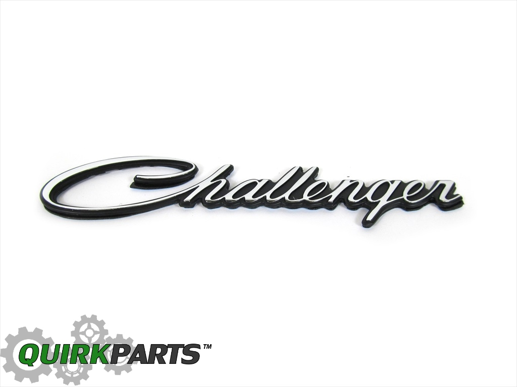 1970-1974 Dodge Challenger Hood Emblem Decal MOPAR GENUINE