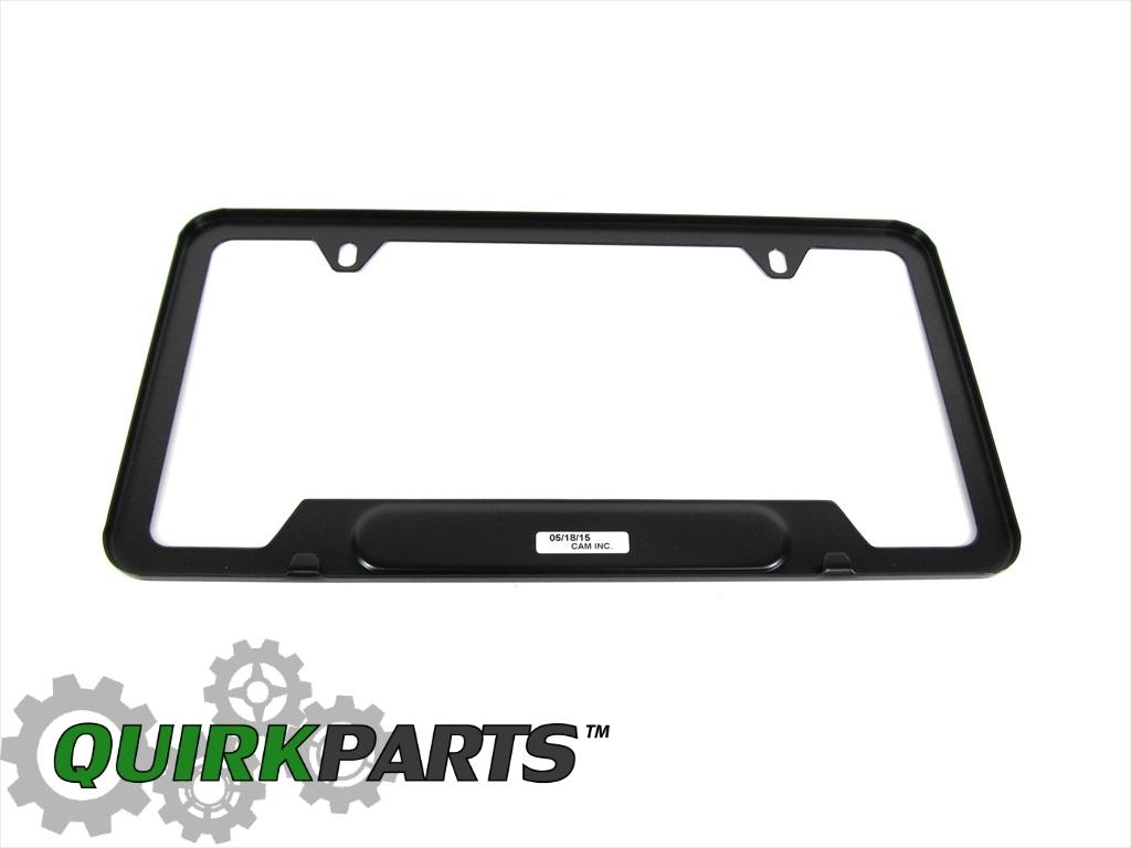 06 17 Dodge Charger Matte Black License Plate Frame Holder