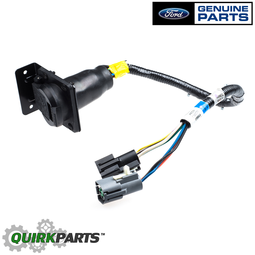 hight resolution of 1996 1997 ford f150 f250 f350 bronco 7 pin trailer tow ford truck wiring harness 1971 ford bronco fuse block