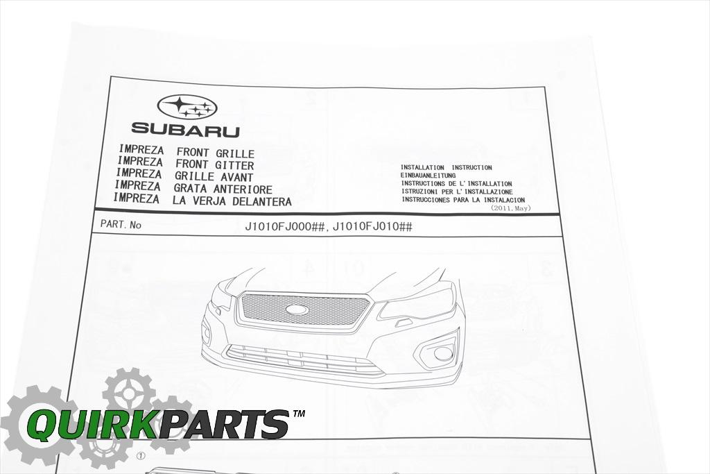 Subaru Xv Crosstrek Sport Mesh Grille Part No J1010fj010