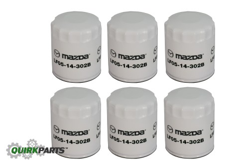 small resolution of details about 2001 2012 mazda 3 5 6 mx 5 miata cx 7 oil filter set of 6 oem new lf05 14 302b