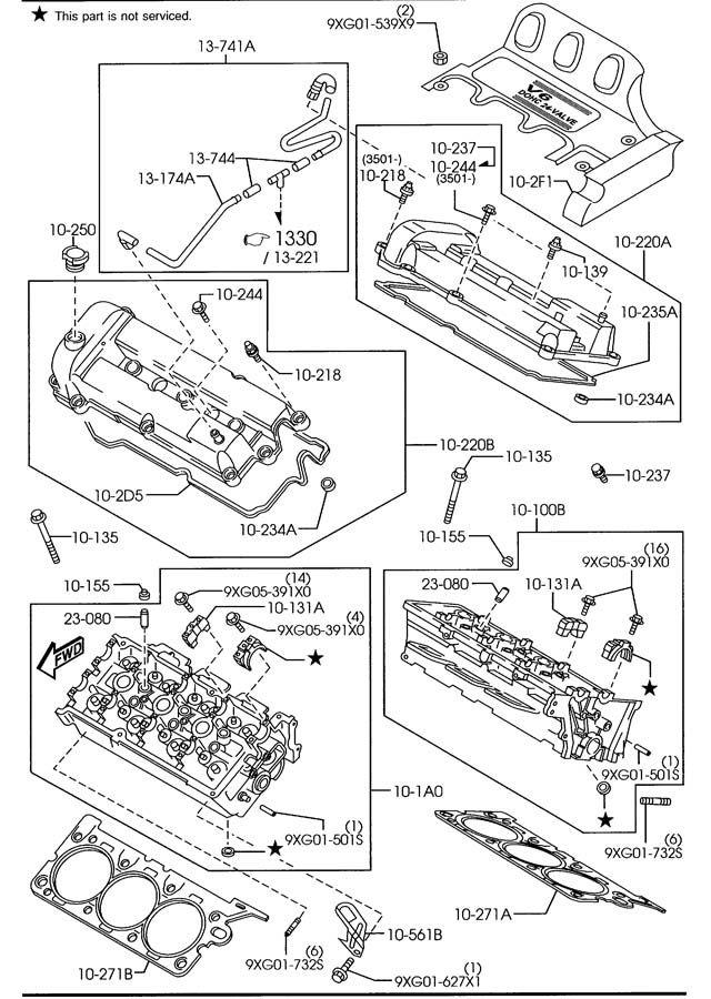 2002 2003 Mazda MPV & 2001-2004 Mazda Tribute Crankshaft