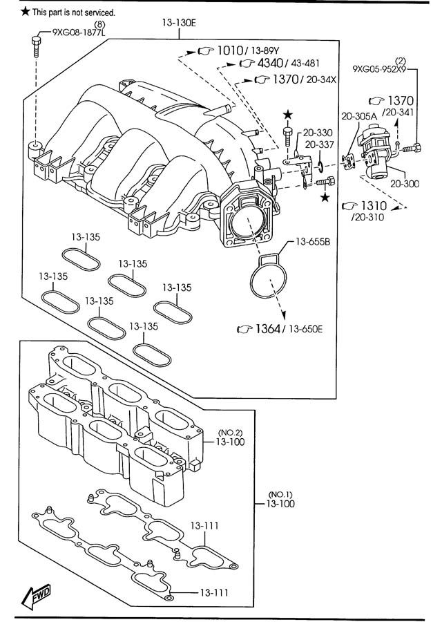 Service manual [2003 Mazda Mpv Intake Manifold Uninstall