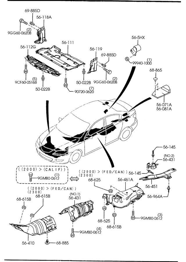 2004 2005 2006 2007 2008 2009 Mazda3 Under Cover OEM NEW