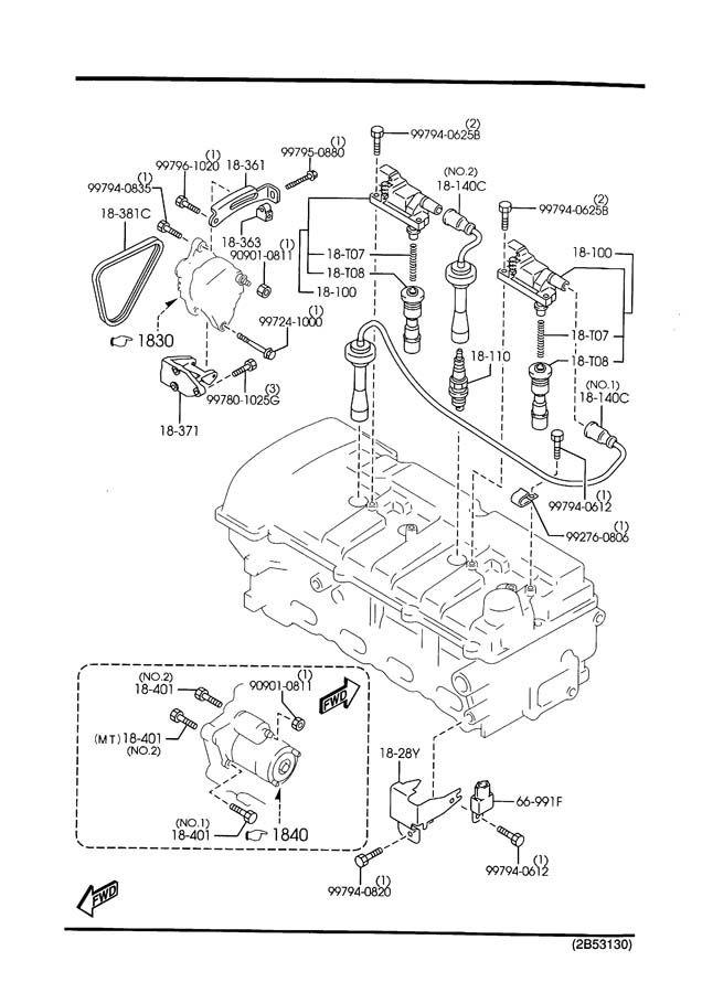 2001 2002 2003 Mazda Protege & 2002 2003 Protege5 Ignition