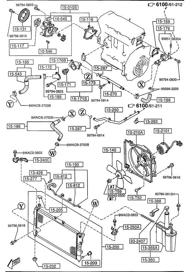 Mazda 626 MX-6 Protege & Protege5 Water Pump Gasket OEM