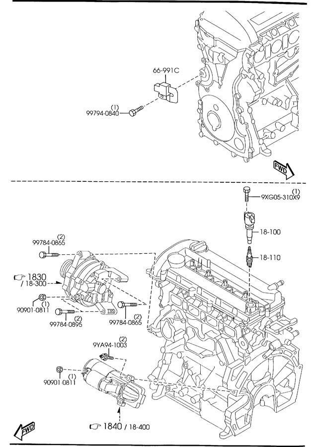 Mazda 3 & Mazda 5 & Mazda6 & Tribute Spark Plug OEM NEW