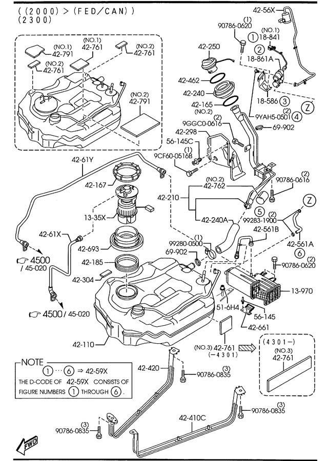 2004 2005 2006 2007 2008 2009 Mazda3 Evap System Leak