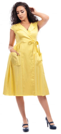 Joyce plain swing dress collectif image