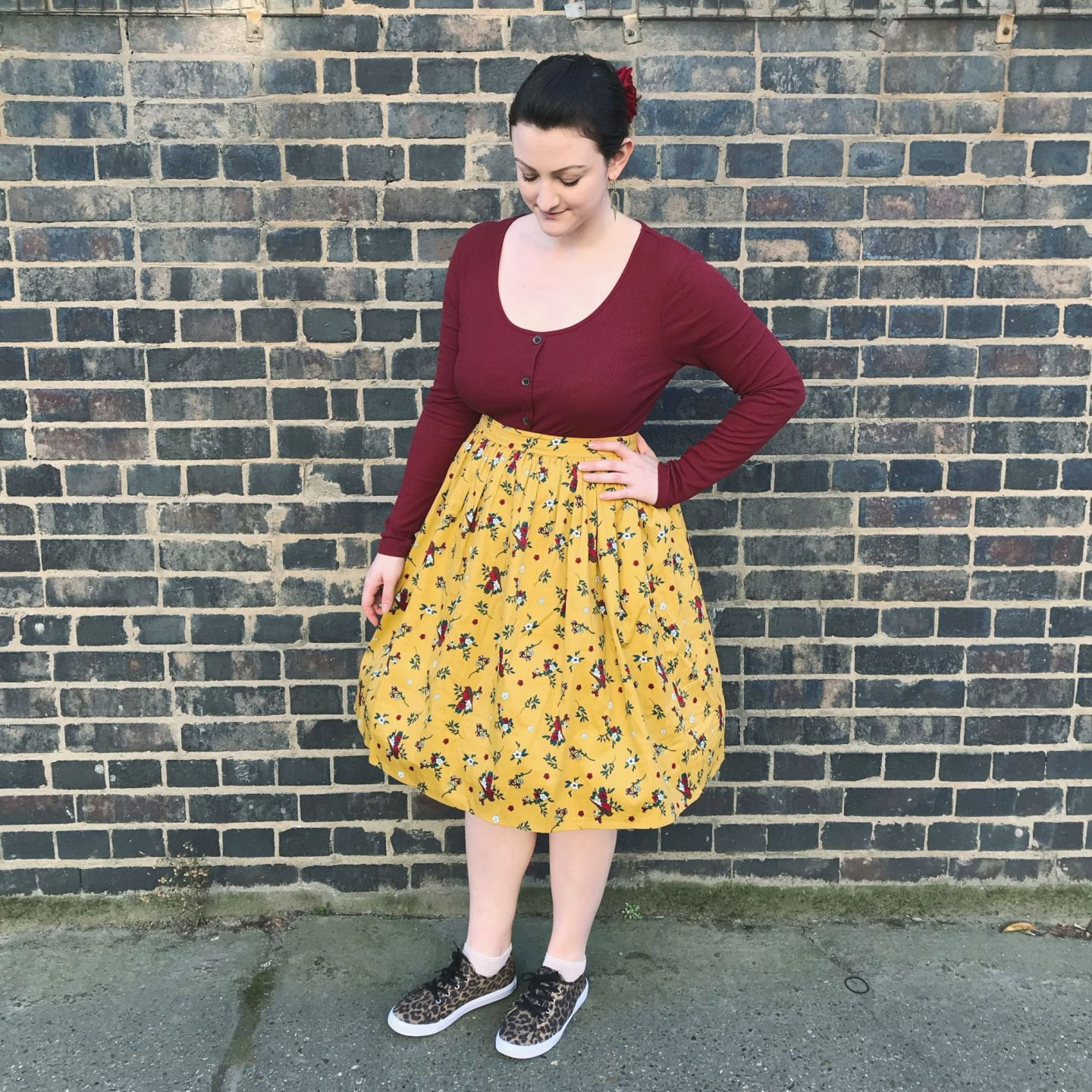 Outfit of the day: dressed down 50s/mainstream mashup