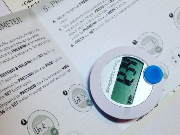new digital pedometer and instructions