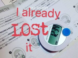 Lost my pedometer
