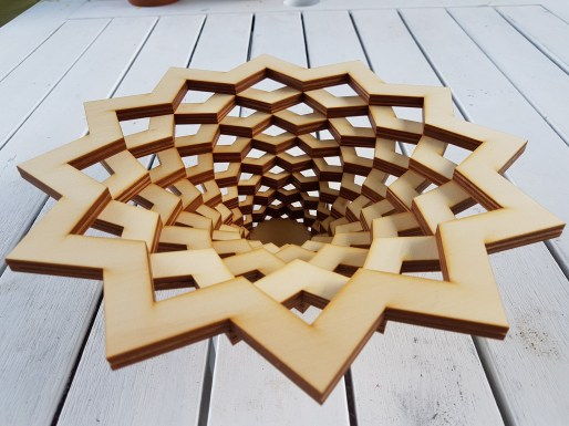 Stacked Wooden Star Fruit Bowl