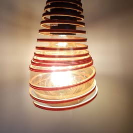 Spiral Lampshade in 4mm plywood (experimental piece)