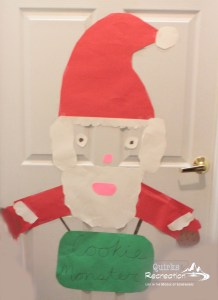Santa door decoration Christmas cheer