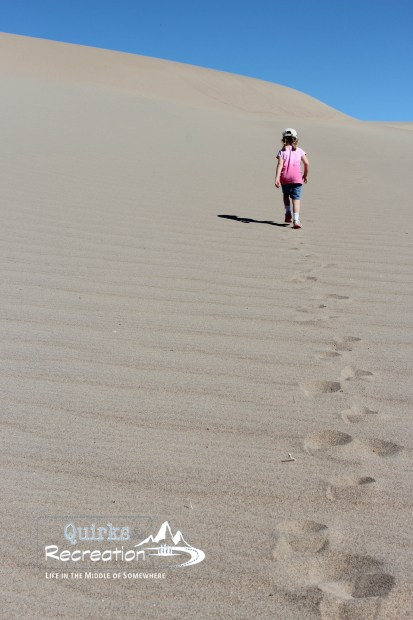 Making tracks on the Mesquite Flat Sand Dunes - Death Valley National Park