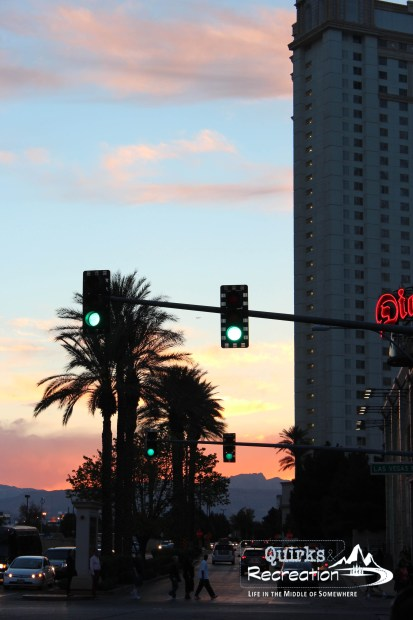 Sunset on the Las Vegas Strip