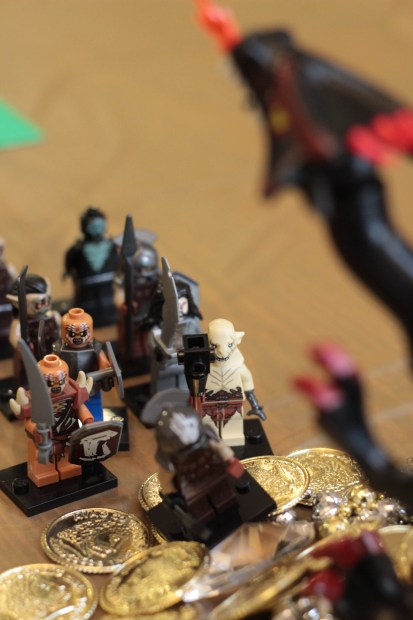 Hobbit Birthday Party LEGO Minifigure and Smaug Decorations