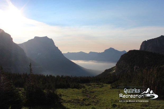 Fog over Logan Pass in the morning - Glacier National Park