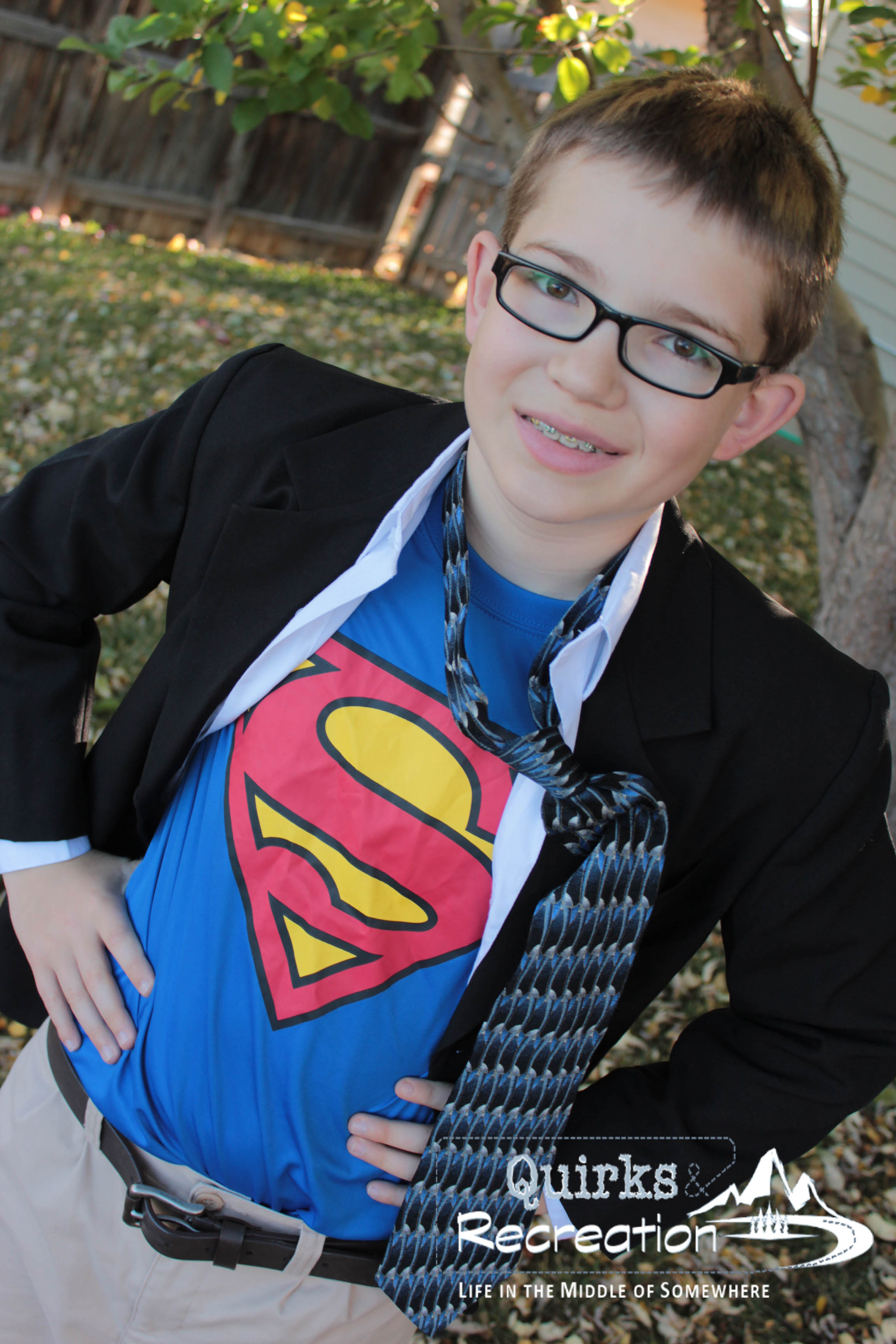 Boy dressed as Clark Kent for Halloween costume  sc 1 st  Quirks u0026 Recreation & DIY Halloween Costumes for Kids