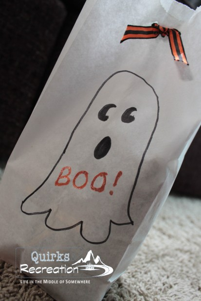 Decorated Halloween Boo Bag