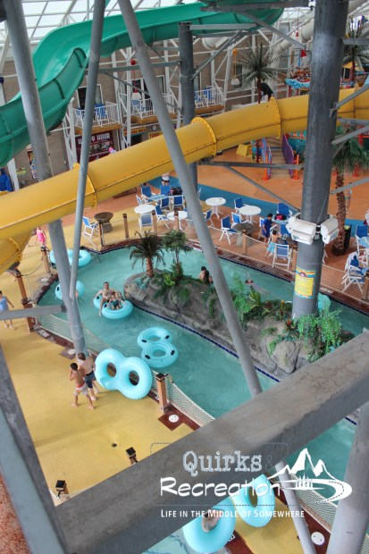 Looking down on the lazy river at WaTiki Waterpark