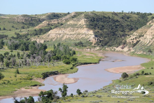 Theodore Roosevelt National Park river overlook