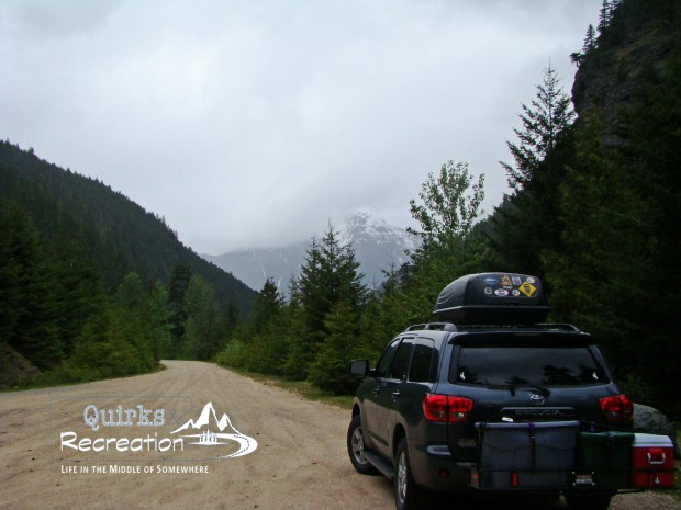 SUV parked on a road in Cascades National Park