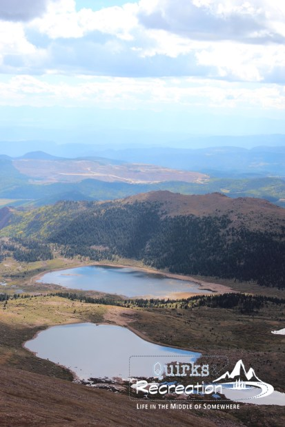 view from Pikes Peak Colorado