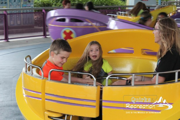 Family spinning in Storm ride at Islands of Adventure, Universal Orlando