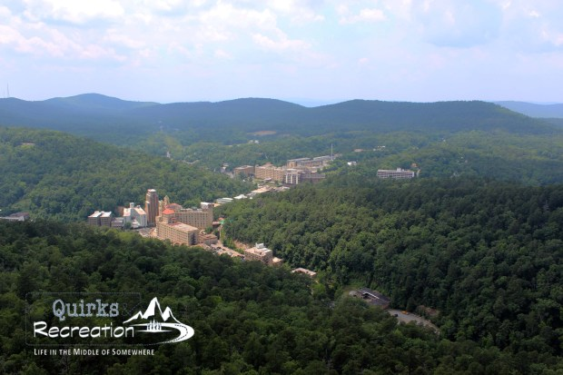View of Hot Springs, Arkansas from mountain observation tower