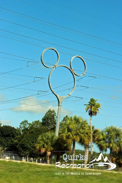 Mickey Mouse head-shaped electrical tower