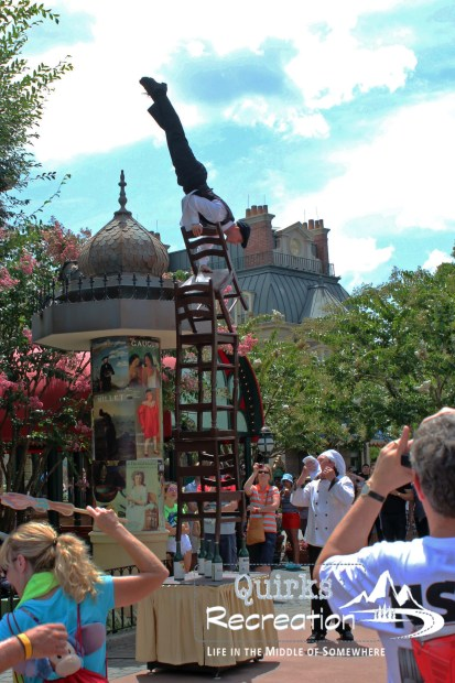 French server street show in Walt Disney World Epcot