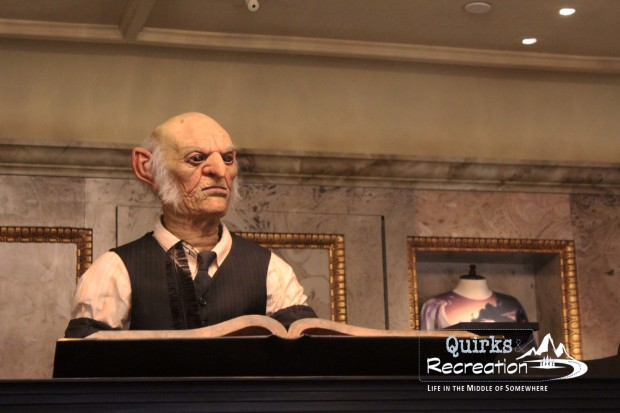 talking Goblin at Gringotts Money Exchange Universal Studios