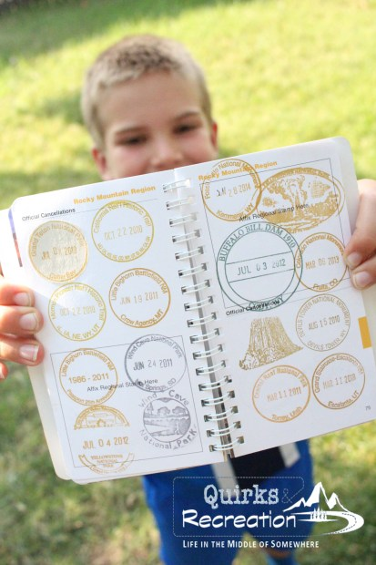 multiple stamps in a National Park System passport