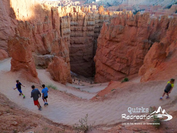 Walking down the switchbacks of Wall Street in Bryce Canyon National Park